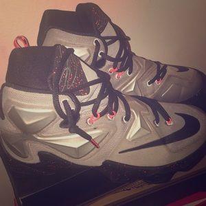 LeBron James silver and orange size 7.5